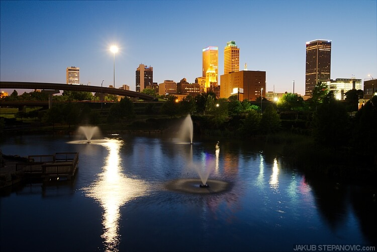 The only skyline of the town I took was from the Centennial Park before I went to bed.