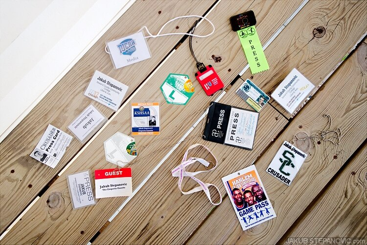 It's insane how many items can be collected within a small amount of time. Here's like 1/3 of my press passes from last three years.
