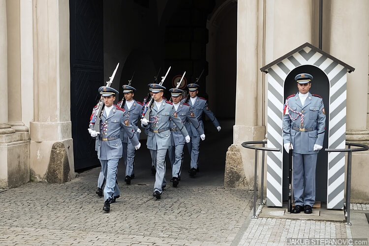 guards at the west entrance.