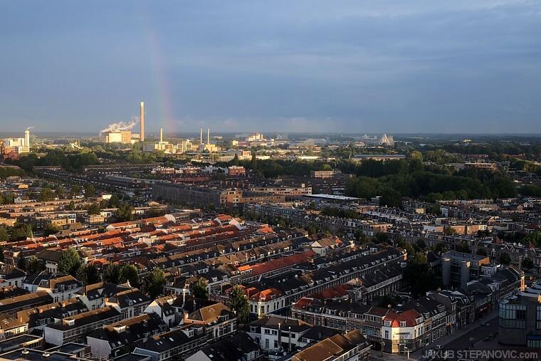 A power plant brings a rainbow. Take that, greenpeace..