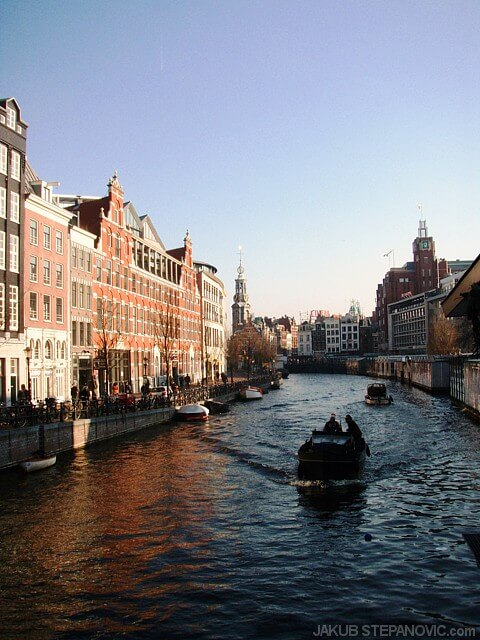 Amsterdam (pictured) is the most famous canal city of the country; however, they are common all over it.