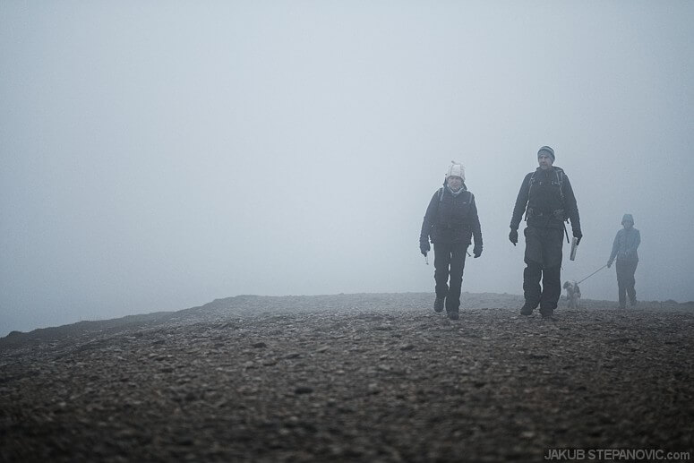 Helvellyn is one of the favorite places in the park; therefore, we weren't alone on the top.