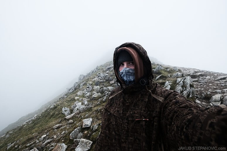 It was windy, rainy at times and with no view further than just a few feet. Yet I couldn't be much happier.
