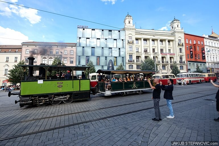 Among others, a steam powered city tram. Cool as heck.