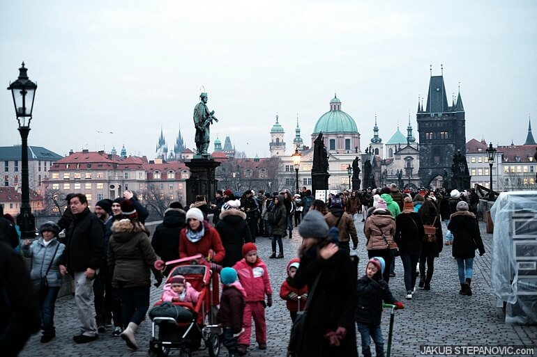 Nevermind the cold weather, tourists everywhere.